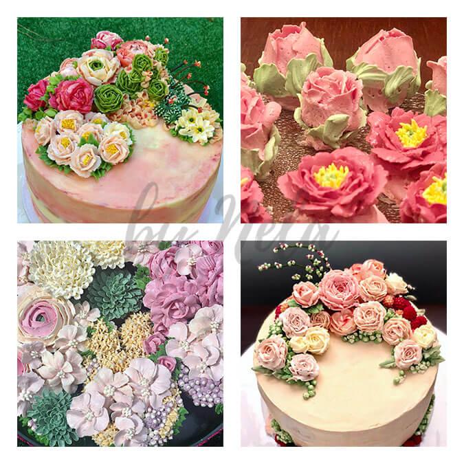 Collage de Bouquets de buttercream