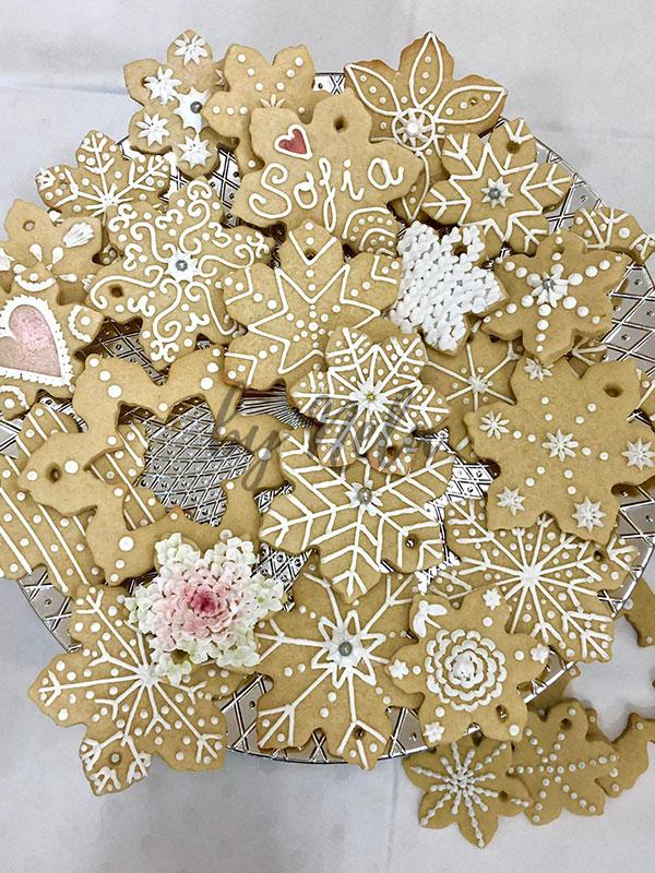 Cookies con forma de estrella decoradas
