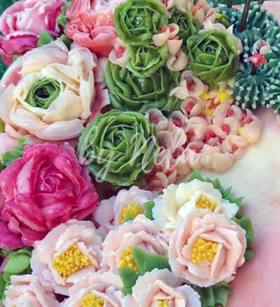 Flores buttercream