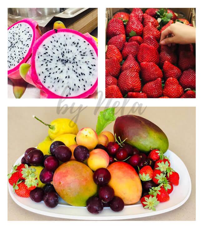 Collage de Frutas naturales