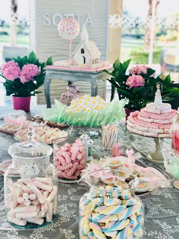 Detalle mesa dulce comunión