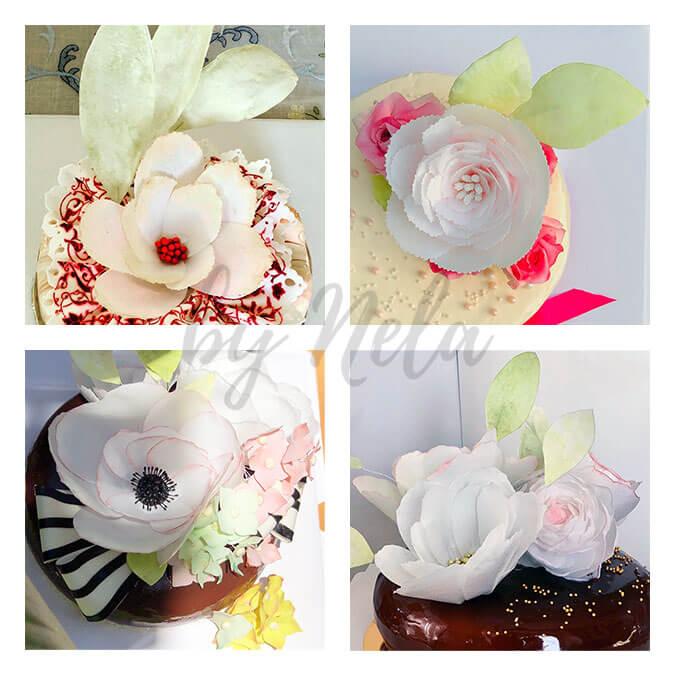 Collage de Bouquets de papel de arroz